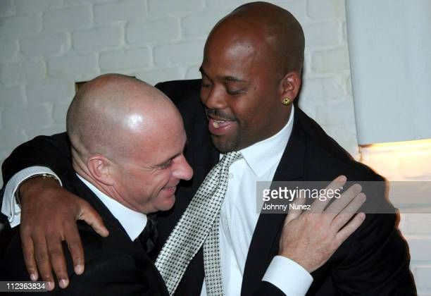 Giuseppe Cipriani host and Damon Dash during Naomi Campbell and Giuseppe Cipriani Holiday Party December 5 2005 in New York New York United States