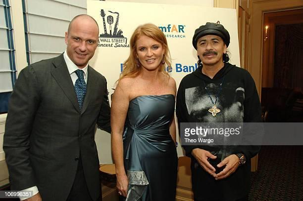Giuseppe Cipriani Sarah Ferguson and Carlos Santana