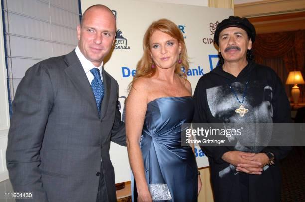Giuseppe Cipriani Sarah Ferguson Duchess of York and Carlos Santana