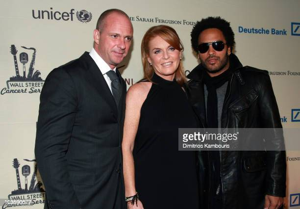 Giuseppe Cipriani Sarah Ferguson Duchess of York and musician Lenny Kravitz attend the 2007 Cipriani Wall Street Concert Series featuring Lenny...