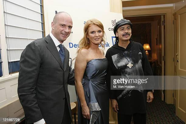 Giuseppe Cipriani Sarah Ferguson Duchess of York Carlos Santana