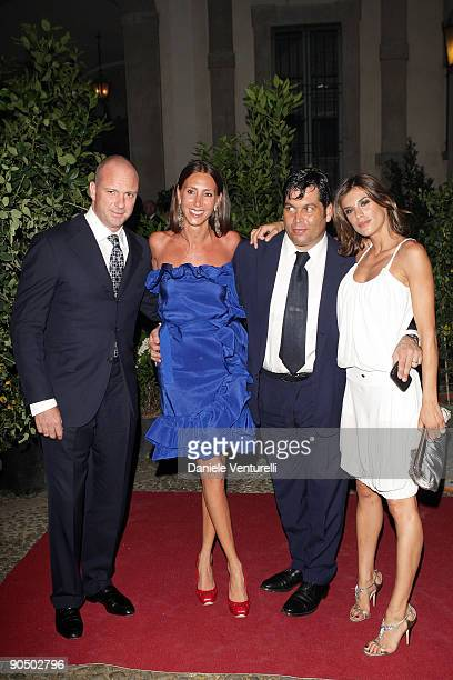 Giuseppe CiprianiAlessandra Ferruzzi Massimiliano Ferruzzi and Elisabetta Canalis attend Uomo Vogue 40th Anniversary Celebration Party as part of...