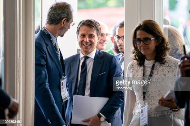 Giuseppe Conte Italy's prime minister arrives at the Ambrosetti Forum in Cernobbio Italy on Saturday Sept 8 2018 The European HouseAmbrosetti hosts...
