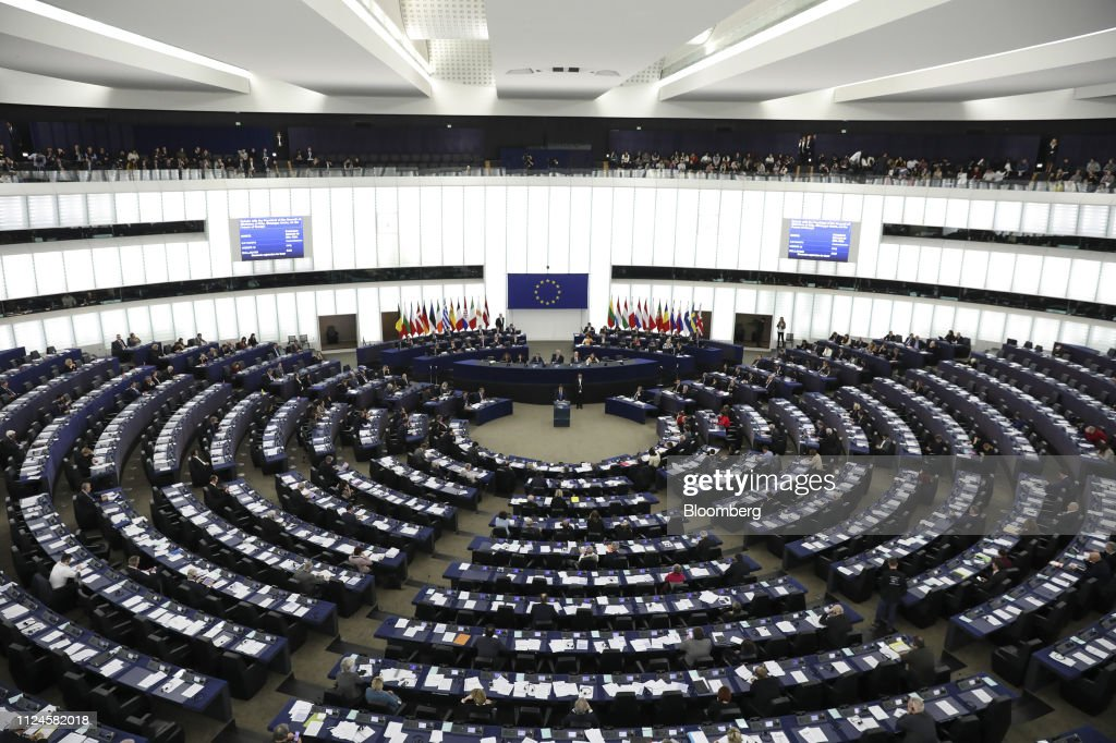 Italy's Prime Minister Giuseppe Conte Addresses European Parliament Plenary Session : News Photo