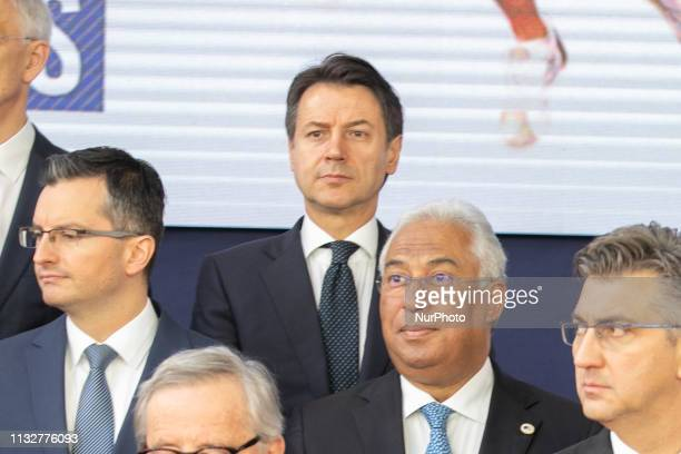 Giuseppe Conte the Prime Minister of Italy in the European Council during the family group photo on March 22 2019