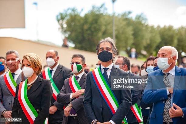 Giuseppe Falcomatà mayor of Reggio Calabria seen during the funeral. At the Regional Citadel in Catanzaro was the last tribute for Jole Santelli,...