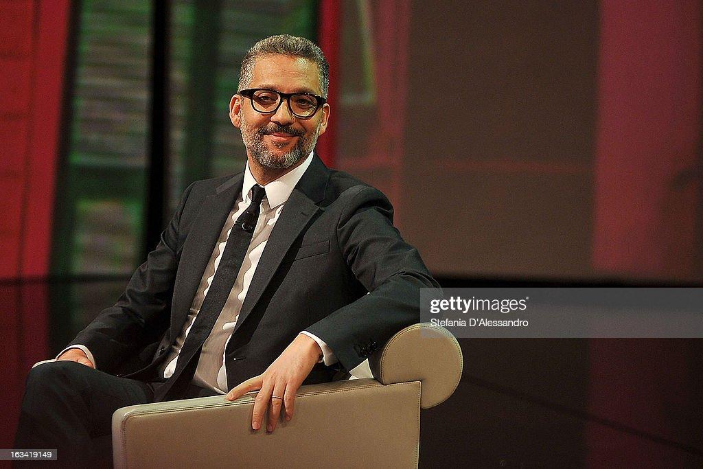 Giuseppe Fiorello attends 'Che Tempo Che Fa' Italian TV Show on March 9, 2013 in Milan, Italy.