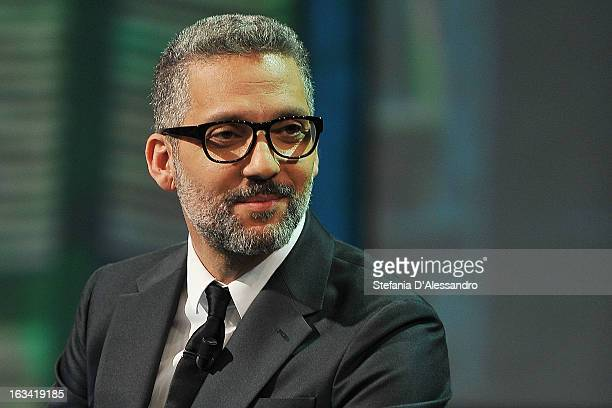 Giuseppe Fiorello attends 'Che Tempo Che Fa' Italian TV Show on March 9 2013 in Milan Italy