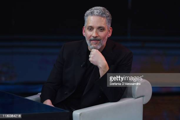 Giuseppe Fiorello attends Che Tempo Che Fa TV Show at on February 17 2019 in Milan Italy