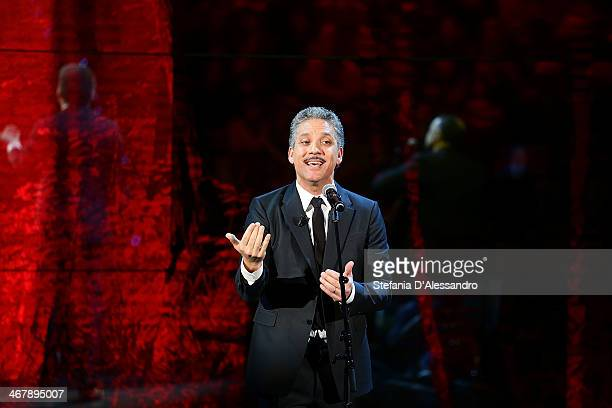 Giuseppe Fiorello attends 'Che Tempo Che Fa' TV Show on February 8 2014 in Milan Italy