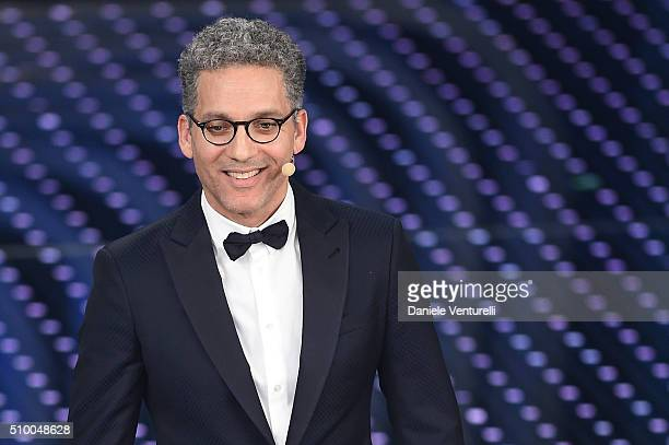 Giuseppe Fiorello attends the closing night of 66th Festival di Sanremo 2016 at Teatro Ariston on February 13 2016 in Sanremo Italy