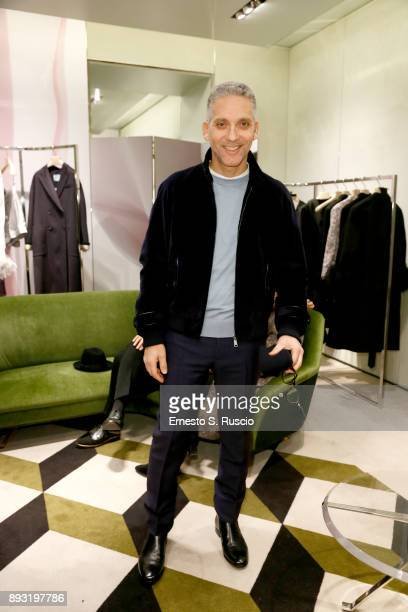 Giuseppe Fiorello attends the cocktail reception to present Prada Resort 2018 collection on December 14th 2017 in Prada's Via dei Condotti stores Rome