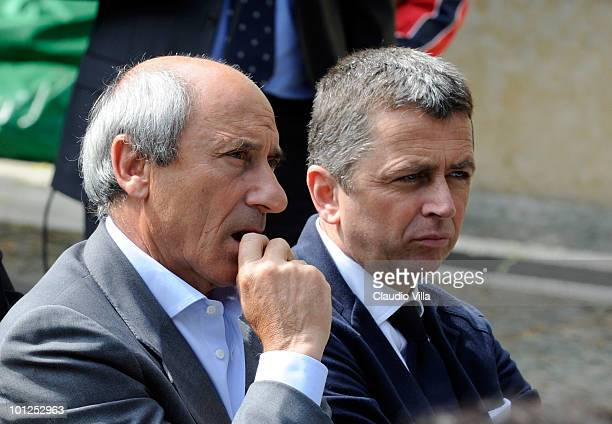 Giuseppe Furino and Beniamino Vignola during the Heysel commemorative ceremony on May 29 2010 in Turin Italy The ceremony remembers the disaster 25...