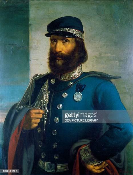 Giuseppe Garibaldi as general of the Sardinian Army by Domenico Induno oil on canvas Unification era Italy 19th century