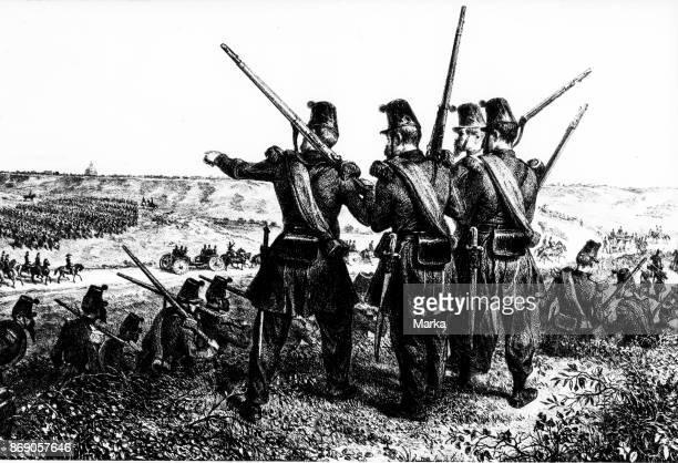 Giuseppe Garibaldi French Soldiers Siege of Rome 1849