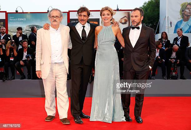 Giuseppe Gaudino Adriano Giannini Valeria Golino and Massimiliano Gallo attend a premiere for 'Per Amor Vostro' during the 72nd Venice Film Festival...