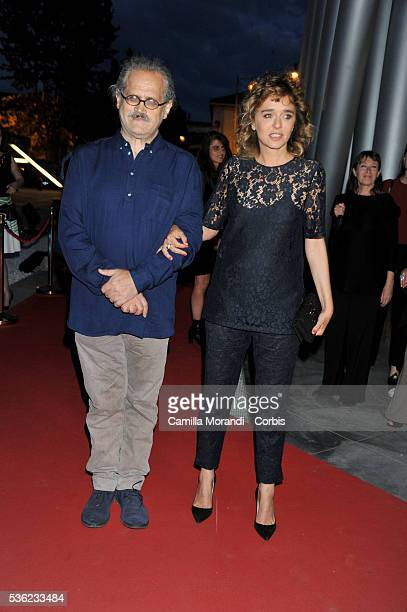 Giuseppe Gaudino and Valeria Golino attend Nastri D'Argento 2016 Award Nominations Red carpet on May 31 2016 in Rome Italy