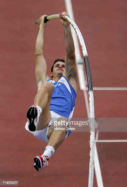 Giuseppe Gibilisco of Italy competes during the Men's Pole Vault Qualifying Round on day four of the 19th European Athletics Championships at the...