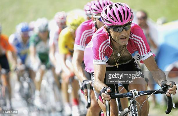 Giuseppe Guerini of Italy and T-mobile in action during Stage 17 of the 93rd Tour de France between Saint-Jean-de-Maurienne and Morzine-Avoriaz on...