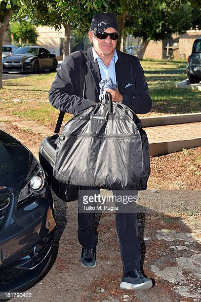 Giuseppe Iachini new coach of Palermo arrives at Tenente Carmelo Onorato Sports Center on September 25 2013 in Palermo Italy