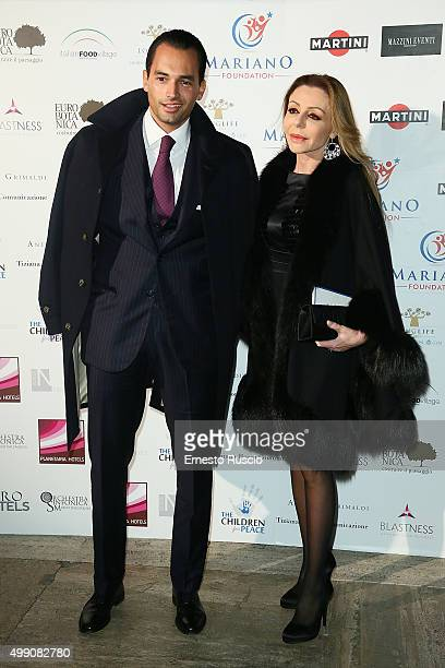 Giuseppe Lago and Elisabetta Caltagirone arrive at Children For Peace Gala on November 28 2015 at Spazio Novecento in Rome Italy