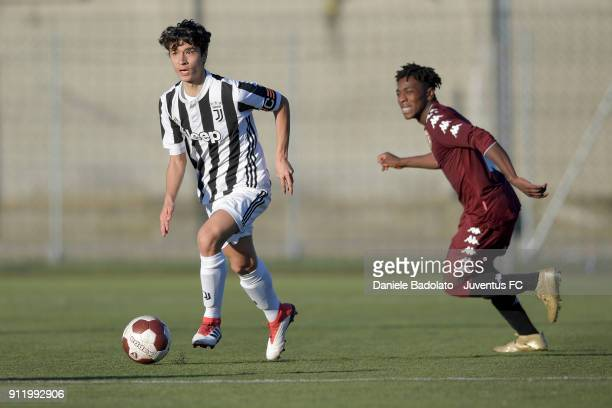 Giuseppe Leone during the U17 match between Torino FC and Juventus on January 28 2018 in Turin Italy