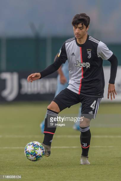 Giuseppe Leone of Juventus U19 controls the ball during the UEFA Youth League match between Juventus U19 and Atletico Madrid U19 on November 26 2019...