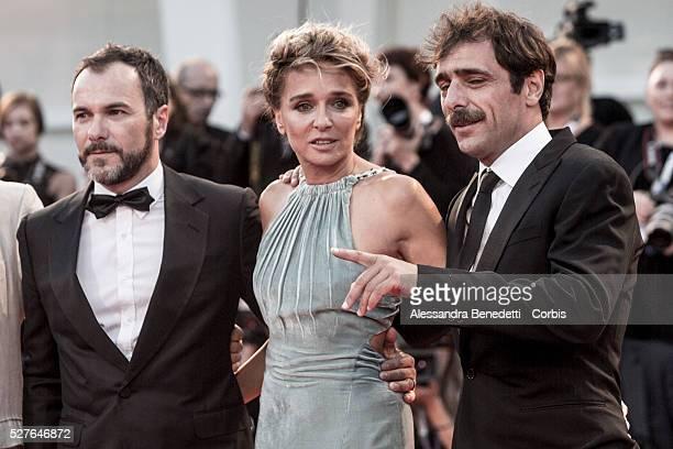 Giuseppe M Gaudino Massimiliano Gallo Valeria Golino and Adriano Giannini attend the premiere of Movie Per amor vostro presented in competition...
