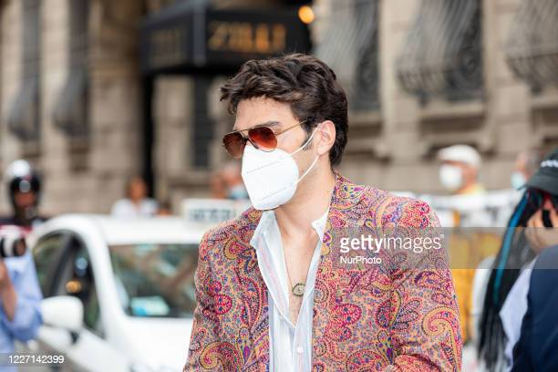 Giuseppe Maggio attends the Etro fashion show during Milan Digital Fashion Week on July 15 2020 in Milan Italy
