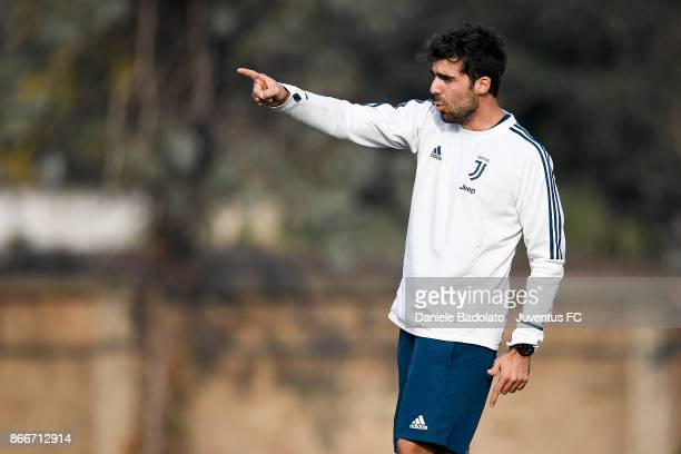 Giuseppe Mammoliti during a Juventus Women training session on October 26 2017 in Turin Italy