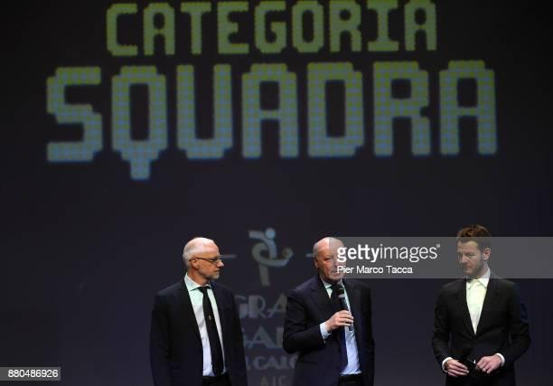 Giuseppe Marotta and Alessandro Cattelan attend the Gran Gala Del Calcio 2017 on November 27 2017 in Milan Italy