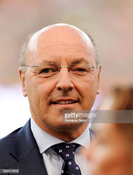 Giuseppe Marotta director general of Juventus before the TIM preseason tournament at Stadio San Nicola on August 13 2010 in Bari Italy