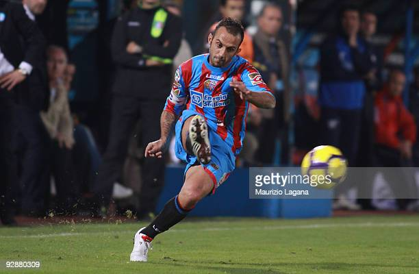 Giuseppe Mascara of Catania Calcio in action during the Serie A match played between Catania Calcio and SSC Napoli at Stadio Angelo Massimino on...
