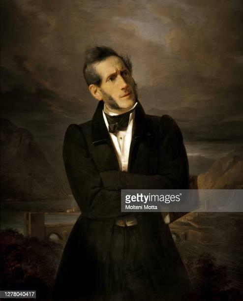 Giuseppe Molteni. 1800-1867. Portrait of Alessandro Manzoni. 1835 oil painting on canvas cm 103 x 80.5.