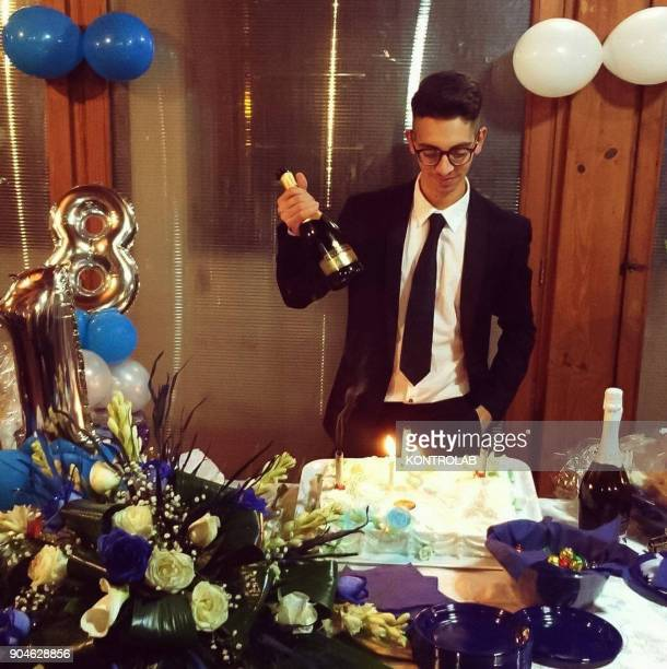 Giuseppe Parretta in the photo of his last birthday shot dead by Salvatore Gerace 57 in Crotone Calabria Southern Italy The murder occurred for a...