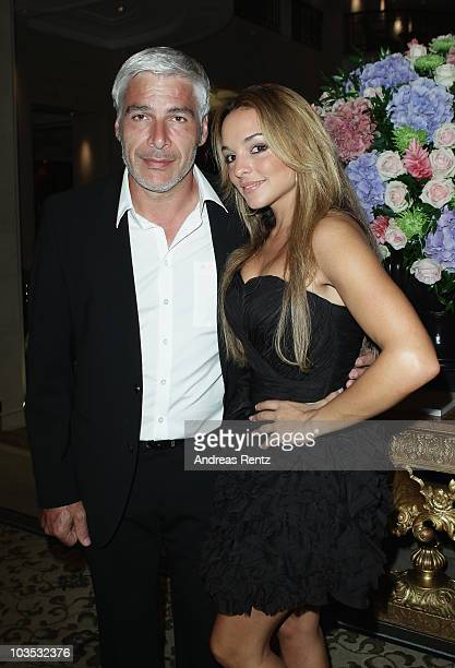 Giuseppe Persico and partner Estefania Kuester attend the BMW Adlon Golf Cup 2010 party at Adlon Hotel on August 21 2010 in Berlin Germany