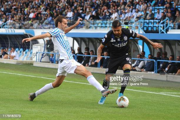 Giuseppe Pezzella of Parma Calcio in action during the Serie A match between SPAL and Parma Calcio at Stadio Paolo Mazza on October 05, 2019 in...