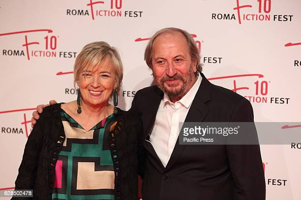 Giuseppe Piccioni, artistic director of the RFF 2016, with Piera Detassis during Red Carpet of Opening Ceremony of Roma Fiction Fest 2016.
