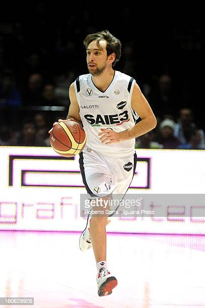 Giuseppe Poeta of SAIE3 in action during the LegaBasket Serie A match between Virtus Bologna SAIE3 and Sutor Montegranaro at Unipol Arena on February...