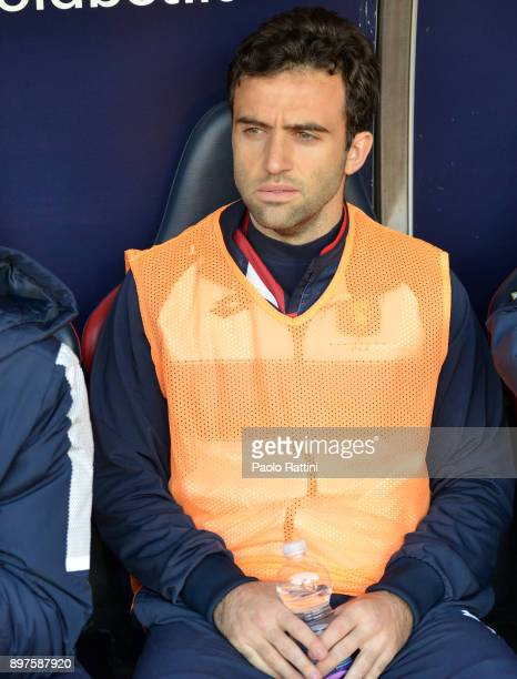Giuseppe Rossi in the bench during the serie A match between Genoa CFC and Benevento Calcio at Stadio Luigi Ferraris on December 23 2017 in Genoa...