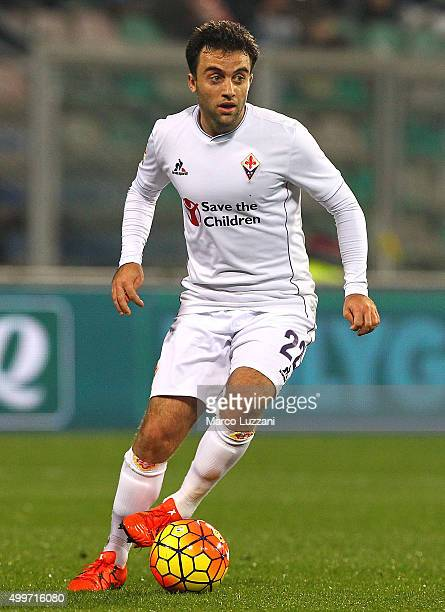 Giuseppe Rossi of ACF Fiorentina in action during the Serie A match between US Sassuolo Calcio and ACF Fiorentina at Mapei Stadium Città del...