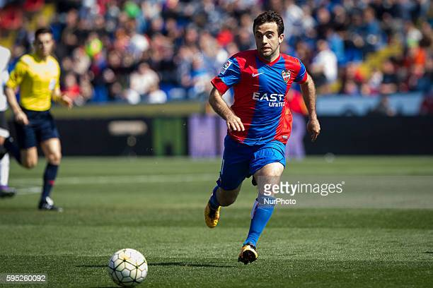 Giuseppe Rossi of Levante UD during la liga match between Levante UD and Valencia CF at Ciutat de Valencia Stadium in Valencia on March 13 2016