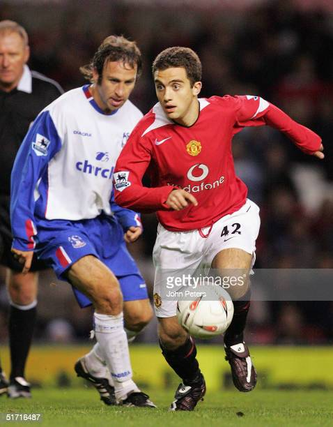 Giuseppe Rossi of Manchester United in action during the Carling Cup match between Manchester United and Crystal Palace at Old Trafford on November...