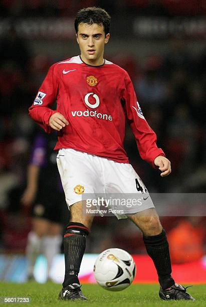 Giuseppe Rossi of Manchester United in action on the ball during the Carling Cup third round match between Manchester United and Barnet at Old...