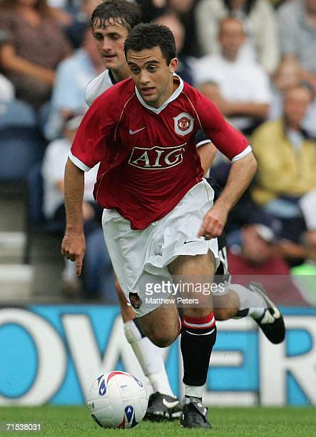 Giuseppe Rossi of Manchester United in action on the ball during the pre-season friendly match between Preston North End and Manchester United at...
