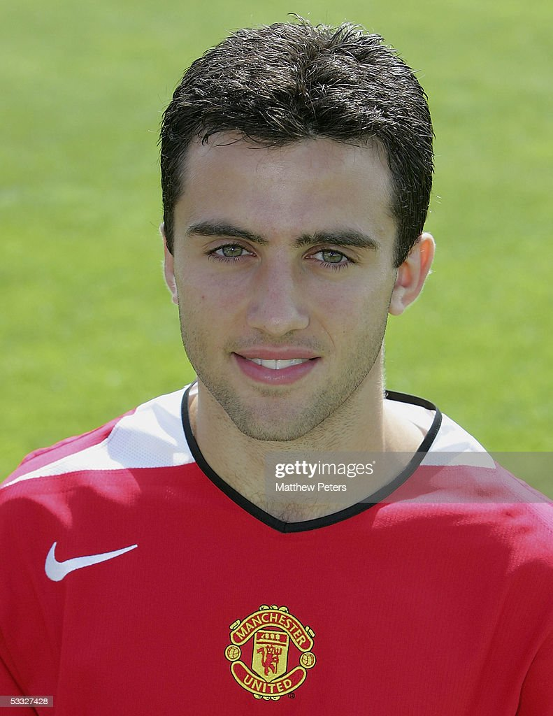 Giuseppe Rossi of Manchester United poses during the annual club photocall at Carrington Training Ground on 5 August 2005 in Manchester, England.