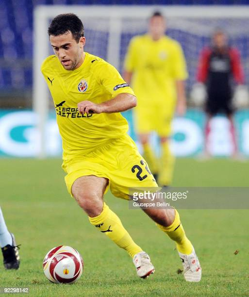 Giuseppe Rossi of Villarreal CF during the UEFA Europa League group G match between SS Lazio and Villareal CF at Olimpico Stadium on October 22 2009...