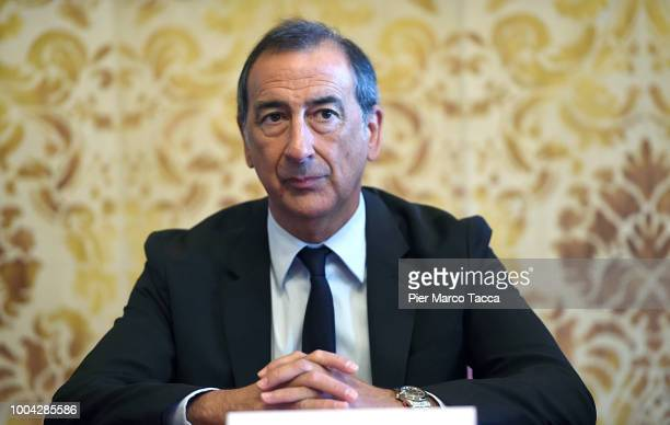 Giuseppe Sala, mayor of Milan attends the Milano Film Festival press conference at Palazzo Marino on July 23, 2018 in Milan, Italy.