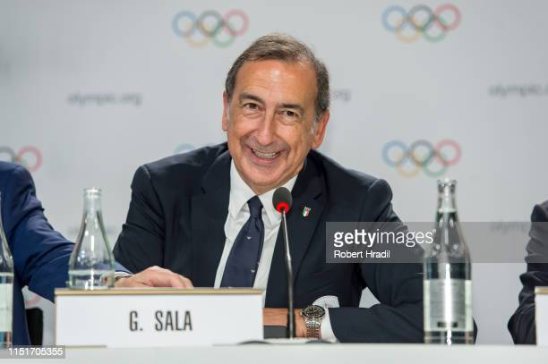 Giuseppe Sala, Mayor of Milan reacts during IOC Announcement at SwissTech Convention Center on June 24, 2019 in Lausanne, Switzerland.