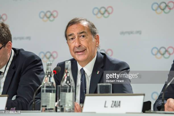 Giuseppe Sala, Mayor of Milan speaks during IOC Announcement at SwissTech Convention Center on June 24, 2019 in Lausanne, Switzerland.